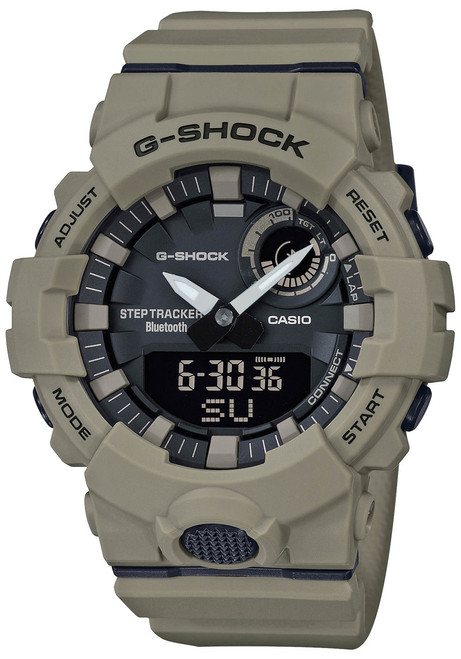 G-Shock GBA800UC G-Squad Ana-Digi Connected Tan (GBA800UC-5A) front