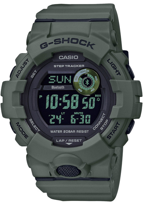 G-Shock GBD800UC G-Squad Connected Green (GBD800UC-3) front