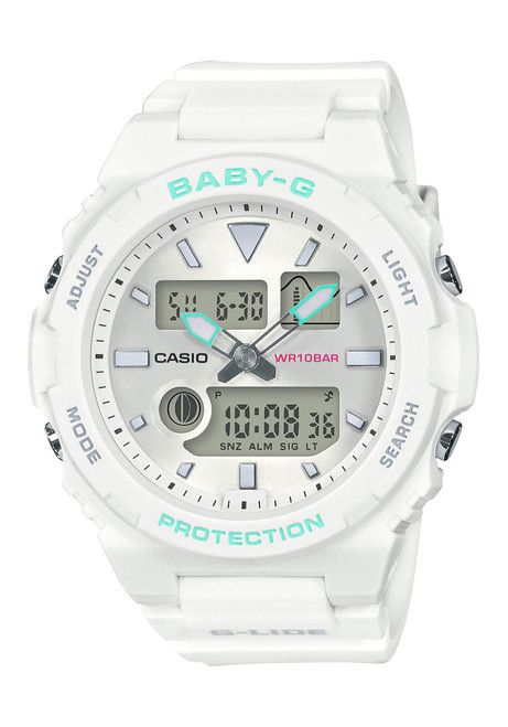 G-Shock BAX100 Baby-G Lide Ana-Digi White Mint (BAX100-7A) front