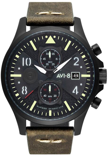 AVI-8 Hawker Harrier II Bulman Edition Chrono Olive Black (AV-4068-03)