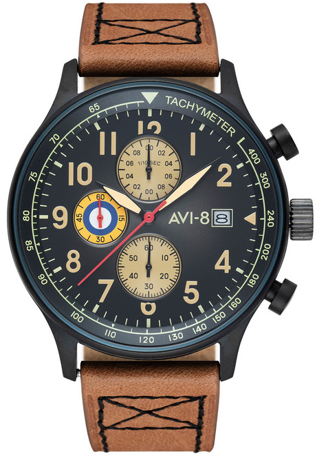 AVI-8 Hawker Hurricane Chrono Light Brown Black (AV-4011-0K)