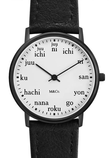 M&Co Ichi 33mm Black (PJT-7410) watch front
