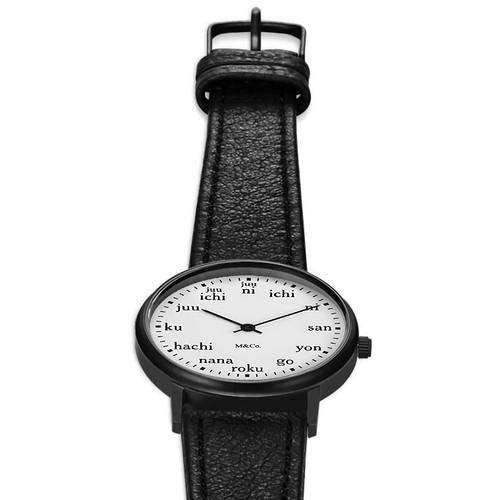 M&Co Ichi 33mm Black (PJT-7410) watch flat