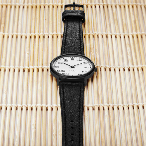 M&Co Ichi 33mm Black (PJT-7410) watch bamboo