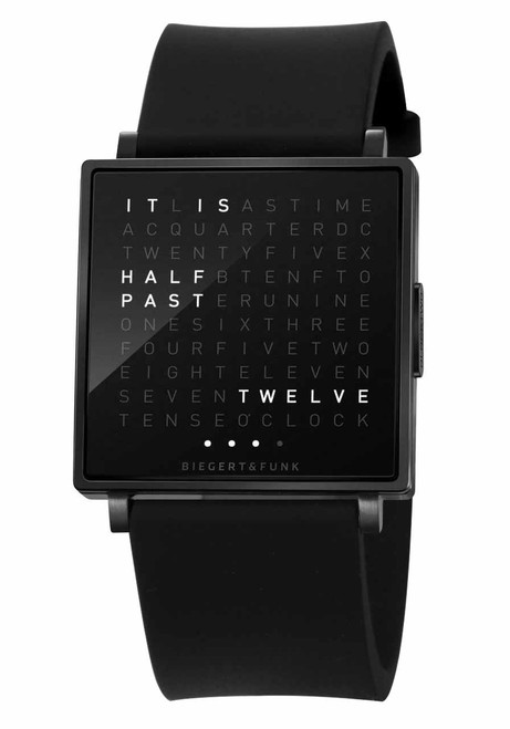 Qlocktwo W Time In Words Black Rubber