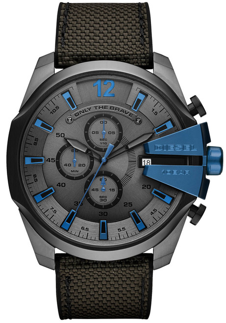 Diesel DZ4500 Mega Chief Chronograph Grey Blue (DZ4500)