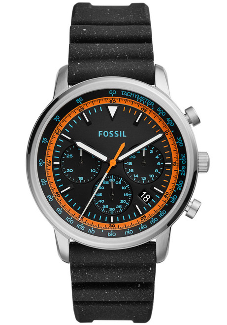 09802ea89 Fossil FS5520 Goodwin Chrono Black Orange | Watches.com