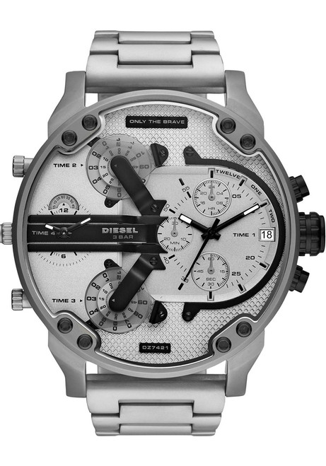 Diesel DZ7421 Mr. Daddy 2.0 Chrono Black Silver SS