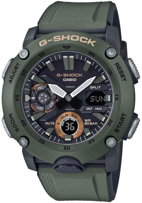 G-Shock GA2000 Carbon Core Ana-Digi Olive (GA2000-3A)