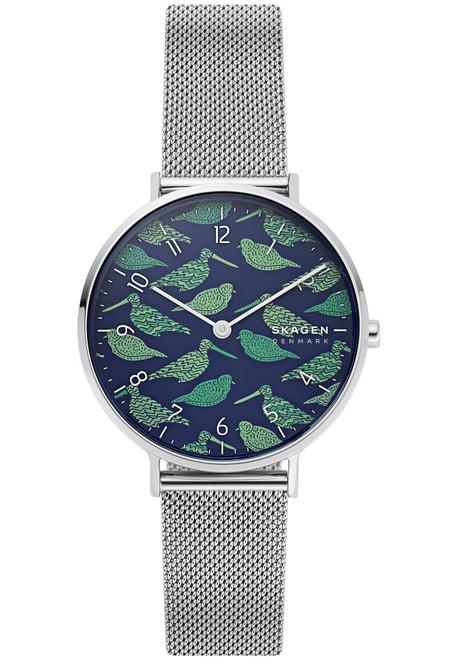 Skagen SKW2781 Aaren Birds Blue Green Silver Mesh (SKW2781)