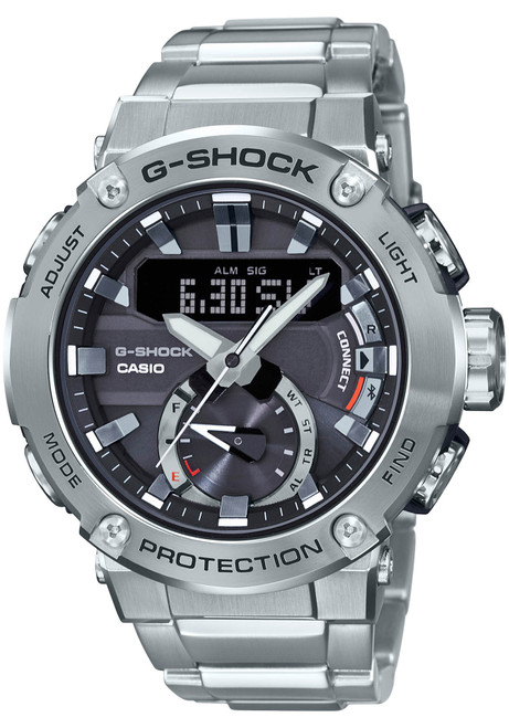 G-Shock GSTB200 Carbon Core Solar Ana-Digi Silver (GSTB200D-1A)