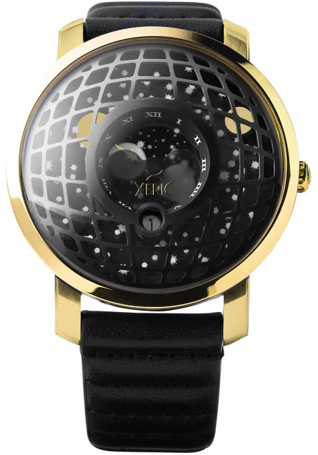 Xeric Trappist-1 Moonphase Gold Black (TMP-3025)
