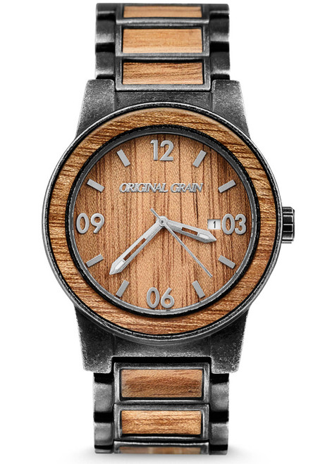 Original Grain Koa Wood 42mm Black Light Brown (OG-11-SW-1)