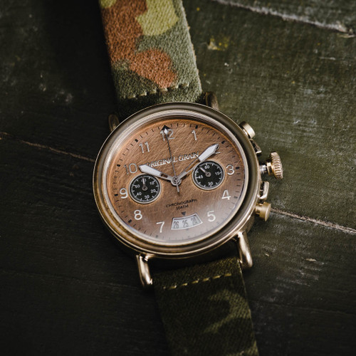 Original Grain Military General Chrono 44mm Gold Brown (OG-CH-MIL-GLD)
