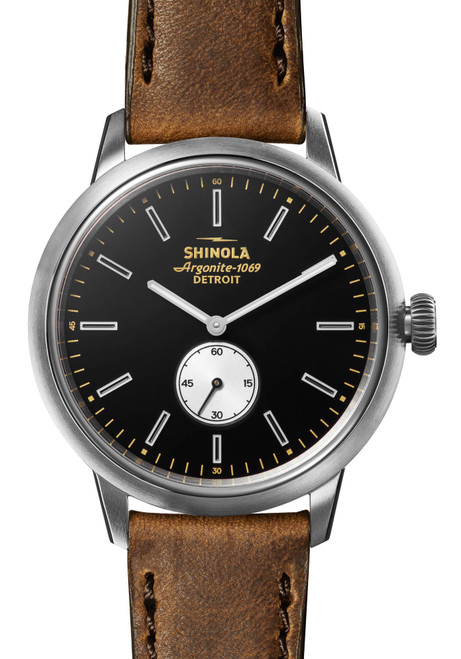 Shinola Bedrock 42mm Black Brown (S0120155183) front