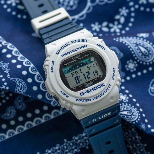 G-Shock GWX-5700 G-Lide Tide Digital White Navy (GWX5700SS-7)