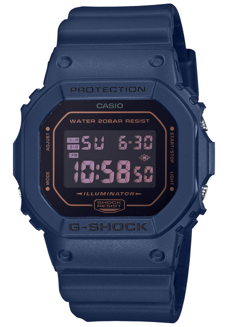 G-Shock DW5600 Metallic Mirror Digital Blue Black (DW5600BBM-2)