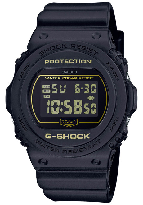G-Shock DW5700 Metallic Mirror Digital Black Gold (DW5700BBM-1)
