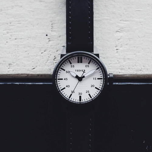 Tsovet SVT-FW44 Swiss Field Watch Black White (FW331510-45)