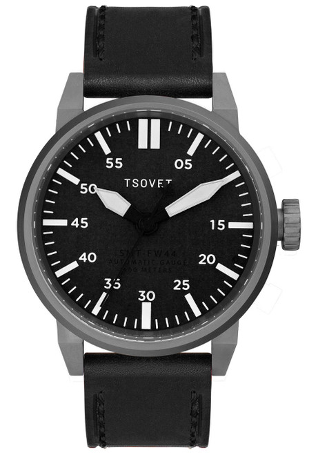 Tsovet SVT-FW44 Swiss Field Watch Gunmetal Black (FW221010-45)