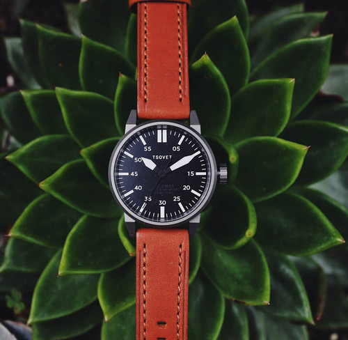 Tsovet SVT-FW44 Swiss Field Watch Gunmetal Brown (FW221013-45)