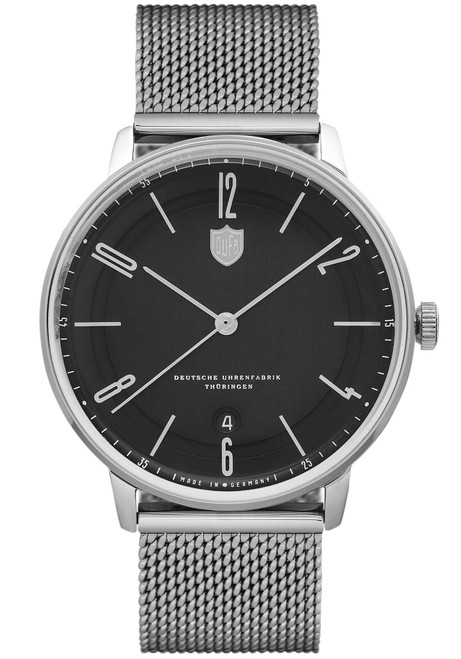 DuFa Bayer Swiss Automatic Silver Black (DF-9016-11)