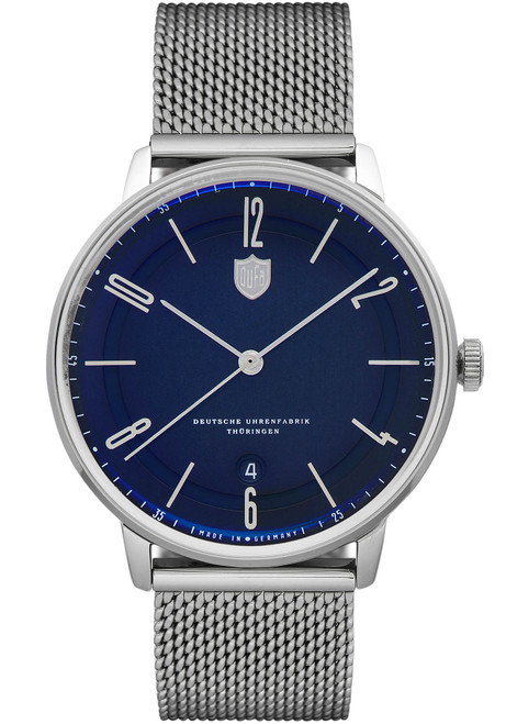 DuFa Bayer Swiss Automatic Silver Blue (DF-9016-33)