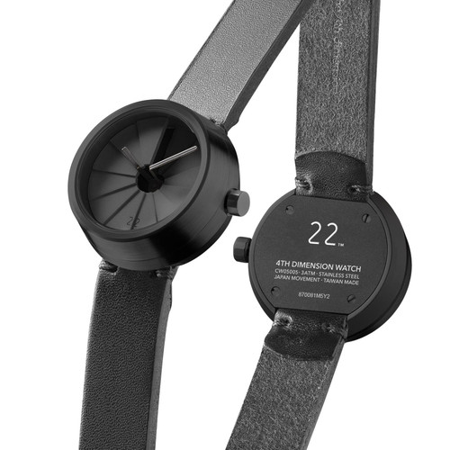 22 Design 4th Dimension Concrete Watch 30mm Shadow (CW05005) full back