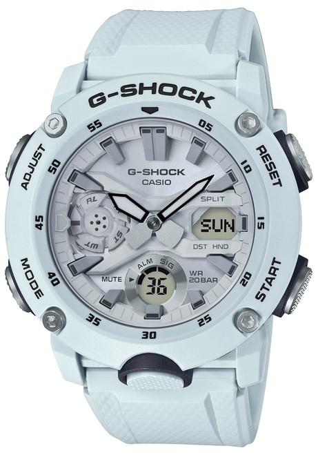 G-Shock GA2000S Carbon Core White Grey (GA2000S-7A)