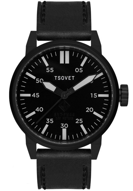 Tsovet SVT-FW44 Swiss Field Watch All Black front