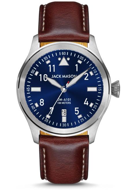 Jack Mason Aviation Pursuit Navy Brown (JM-A101-101)