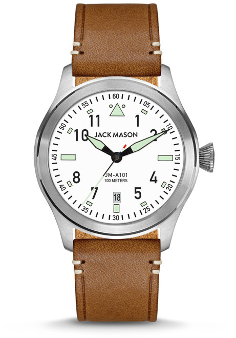 Jack Mason Aviation Pursuit White Tan (JM-A101-201)