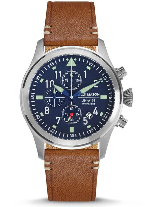 Jack Mason Aviation Pursuit Chronograph Navy Tan (JM-A102-018)