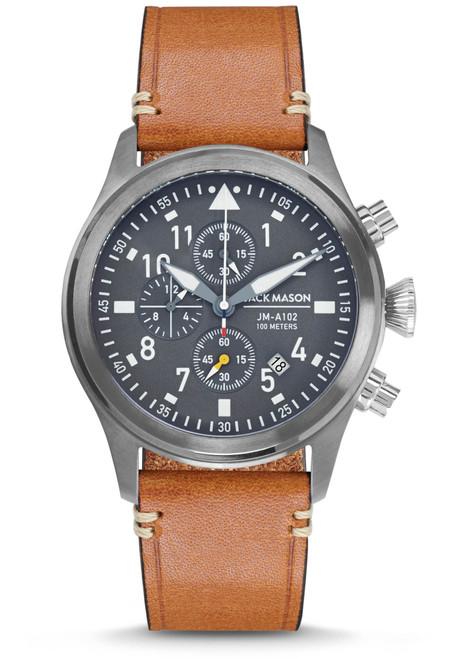 Jack Mason Aviation Pursuit Chronograph Grey Tan (JM-A102-203)
