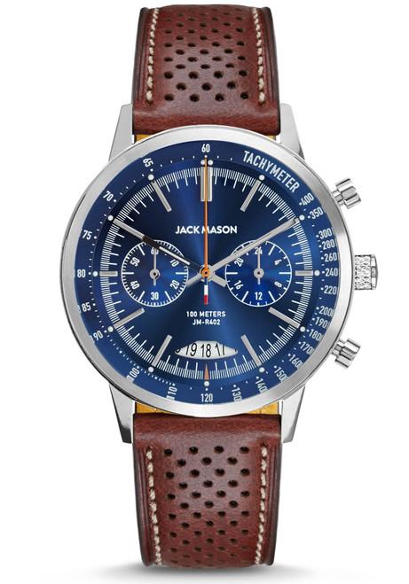 Jack Mason Racing Mirabueau Chronograph Navy Brown (JM-R402-001)
