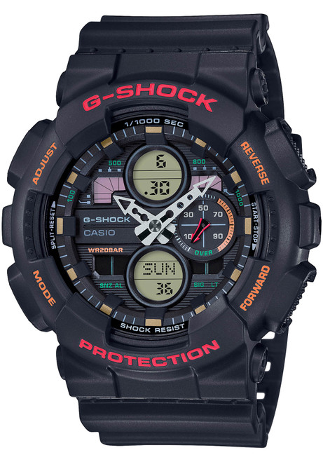 G-Shock GA140 90's Collection Ana-Digi Black Red (GA140-1A4)