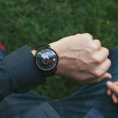 Xeric Trappist-1 Automatic NASA Edition Black Hole (TAN-3333-03L) wrist