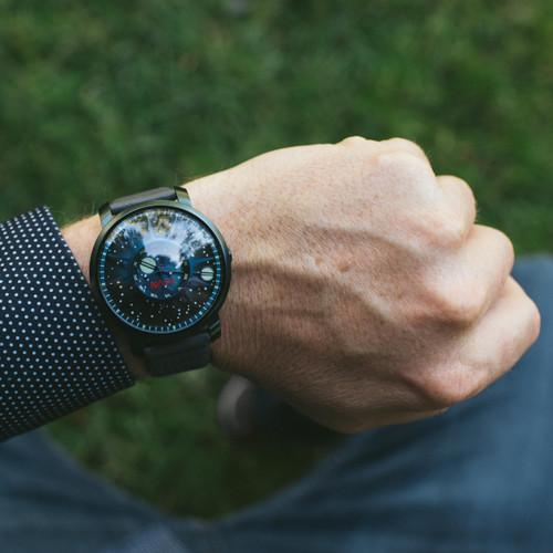 Xeric Trappist-1 Automatic NASA Edition Blue Supernova (TAN-7777-10L) wrist