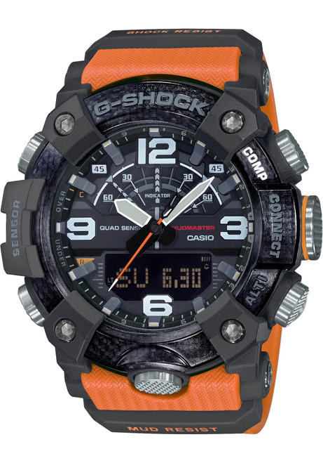G-Shock GGB100 Mudmaster Connected Ana-Digi Black Orange (GGB100-1A9)