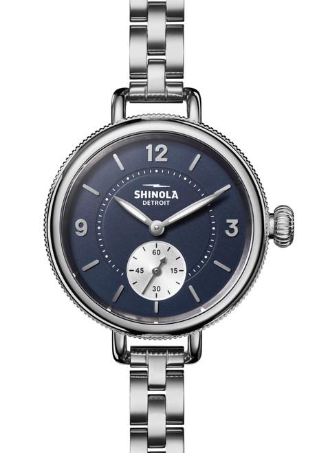 Shinola Birdy 34mm Blue Silver SS (S0120161932)
