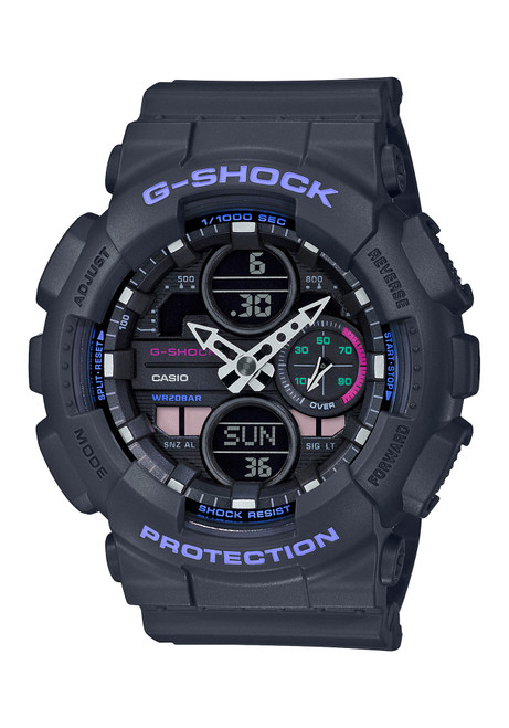 G-Shock GMAS140 G-Series Ana-Digi Black Purple (GMAS140-8A)
