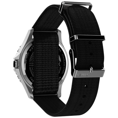 Timex Navi XL Grey Black Nylon