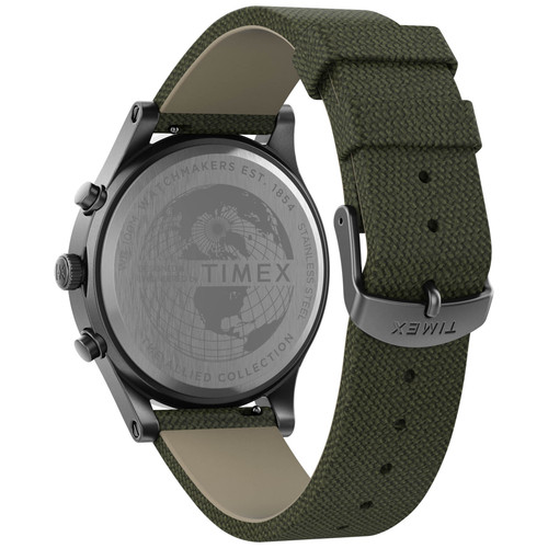 Timex Allied LT Chronograph 42mm Silver Olive (TW2T75800)