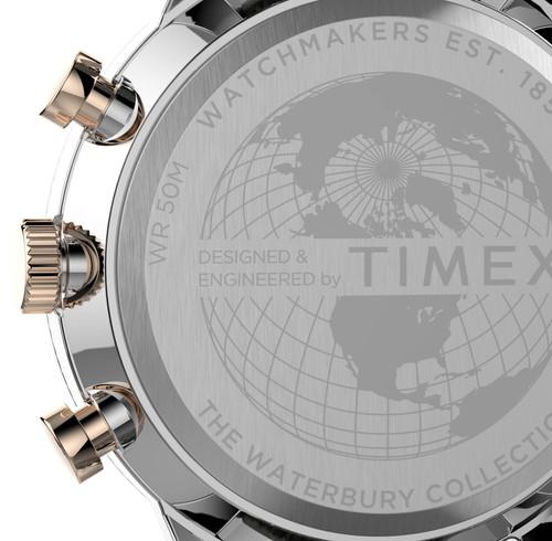 Timex Waterbury Classic Chronograph 40mm Silver Green (TW2T71400)