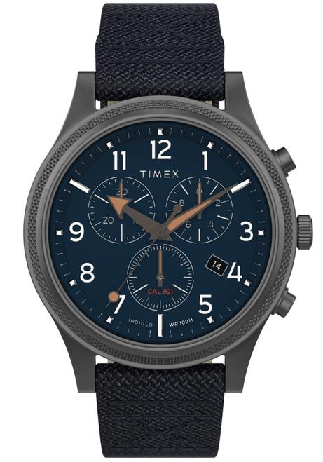 Timex Allied LT Chronograph 42mm Gunmetal Blue (TW2T75900)