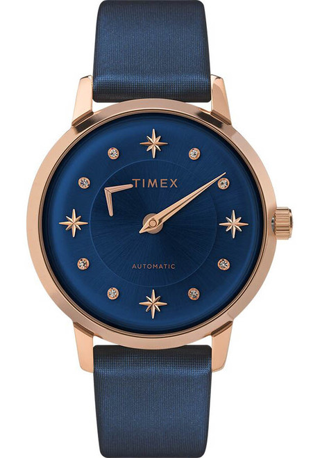Timex Celestial Opulence 38mm Automatic Blue Rose Gold (TW2T86100)