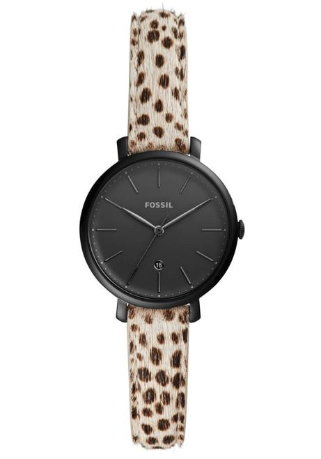 Fossil ES4726 Kinsey White Cheetah Black
