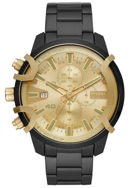 Diesel DZ4525 Griffed Chronograph Black Gold SS (DZ4525)