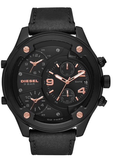 Diesel DZ7428 Boltdown Chronograph Black Rose Gold (DZ7428)