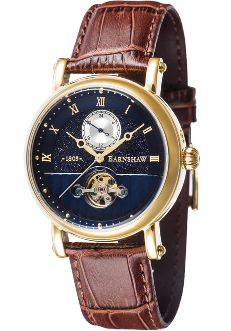 Thomas Earnshaw Maskelyne Celestial Automatic Blue Brown Gold (ES-8114-01)